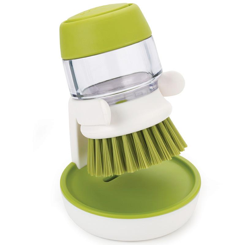 Щетка с дозатором моющего средства Joseph palm scrub™ зеленая 85004