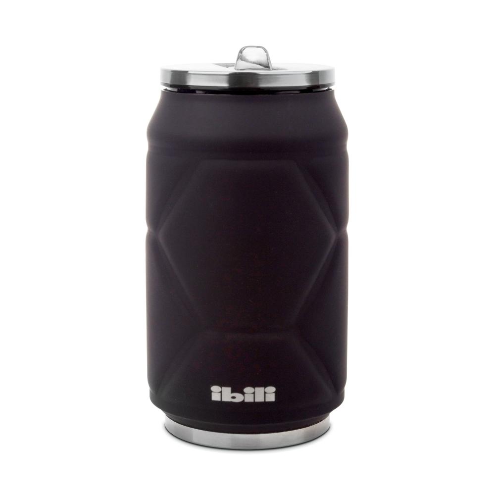Термокружка Жестяная банка, цвет- черный, 330 мл IBILI Termos арт. 796950