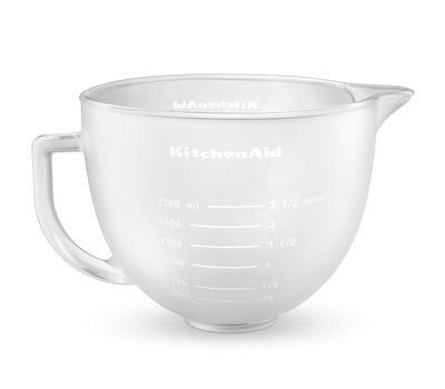 Чаша стеклянная, матовая, 4.83л, съёмная основа, силиконовая крышка KitchenAid 5K5FGB