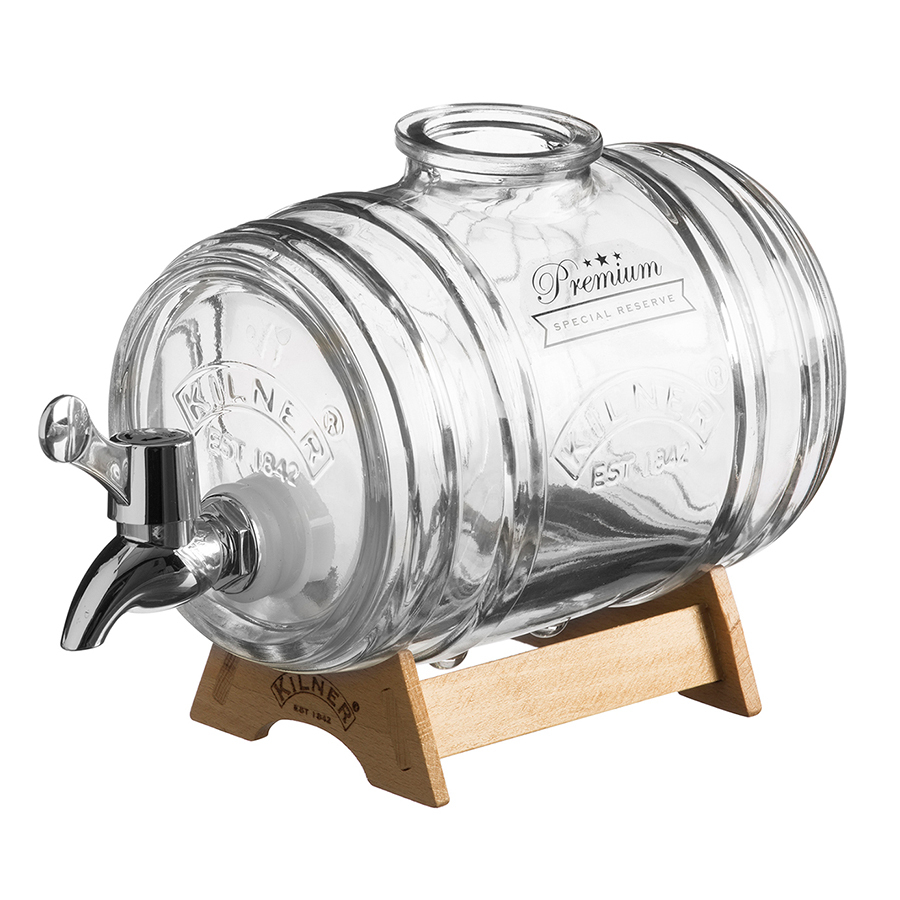 Купить Диспенсер для напитков Barrel на подставке 1 л Kilner K_0025.793V