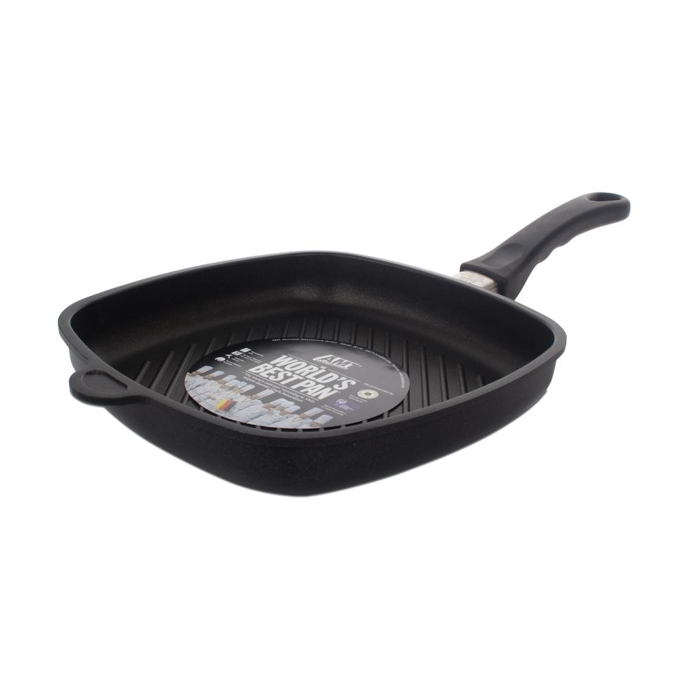 Сковорода гриль квадратная 26х26 см AMT Frying Pans арт. E264G FIX