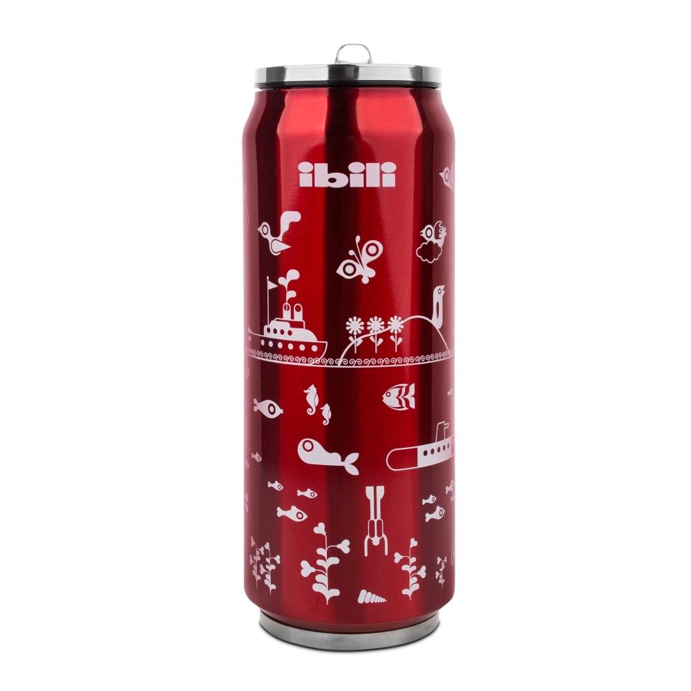 Термокружка Жестяная банка, цвет - красный, 500 мл IBILI Termos арт. 796905