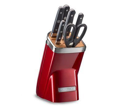 Купить Набор из 4 кухонных ножей, ножниц, мусата и подставки KitchenAid KKFMA07CA