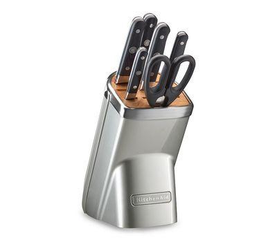Купить Набор из 4 кухонных ножей, ножниц, мусата и подставки KitchenAid KKFMA07FP