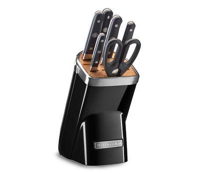 Купить Набор из 4 кухонных ножей, ножниц, мусата и подставки KitchenAid KKFMA07OB
