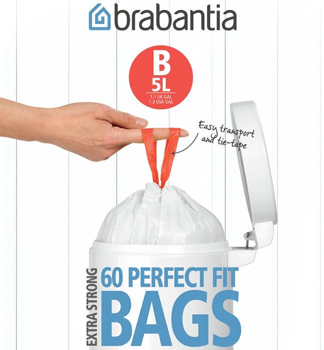 Пакет пластиковый, 5л 60шт Brabantia 348969
