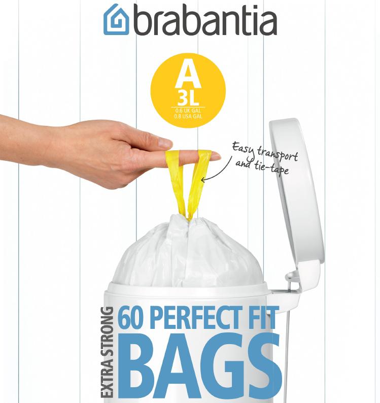 Пакет пластиковый 3л 60шт Brabantia 348983