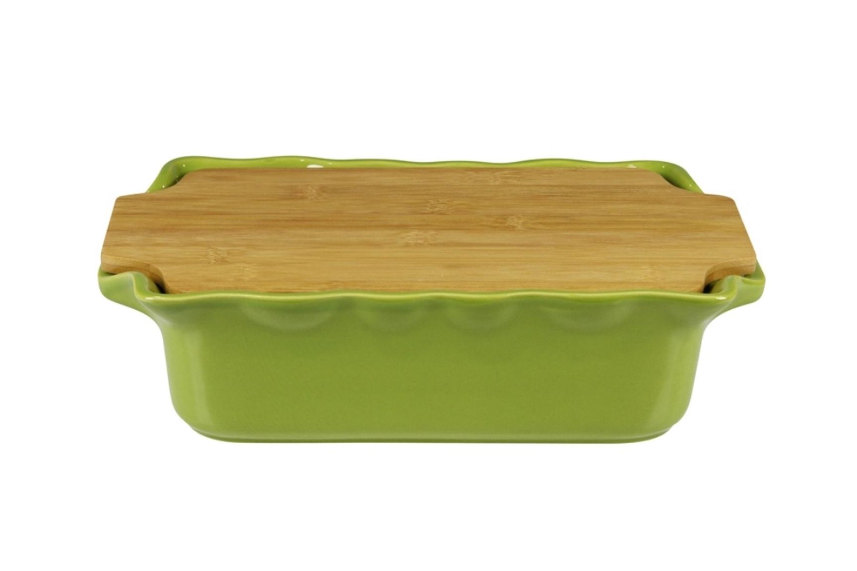 Форма с доcкой прямоугольная 33,5 см Appolia Cook&Stock BAMBOO GREEN 131033503