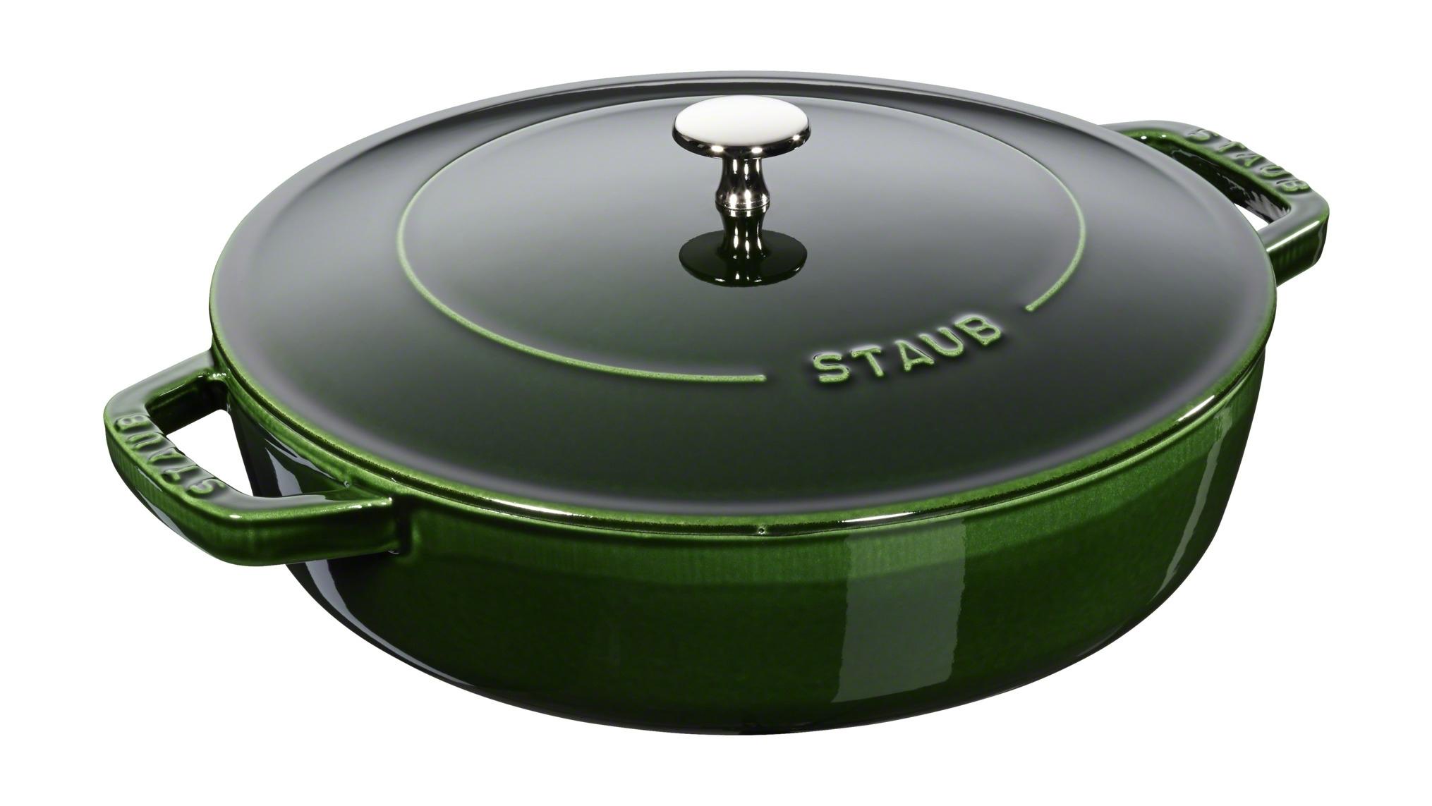 Купить Сотейник Staub чистера с чугунной крышкой, 28 см, 3, 7 л, базилик 12612885