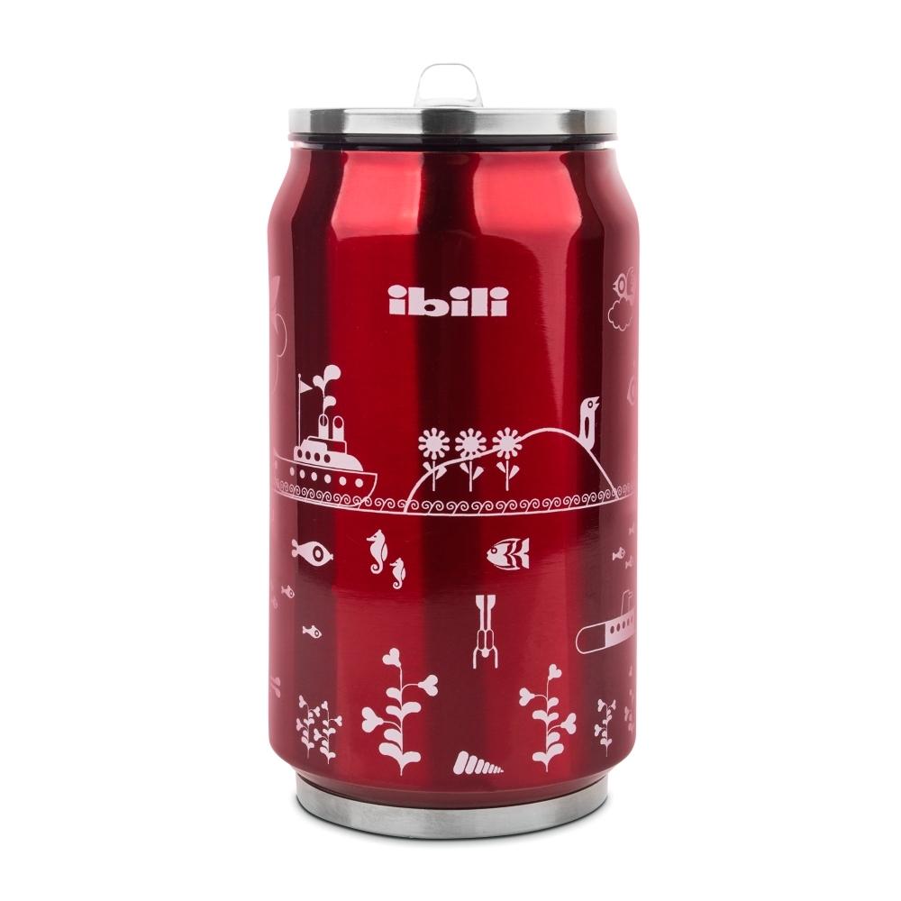 Термокружка Жестяная банка, цвет -красный, 330 мл IBILI Termos арт. 796900