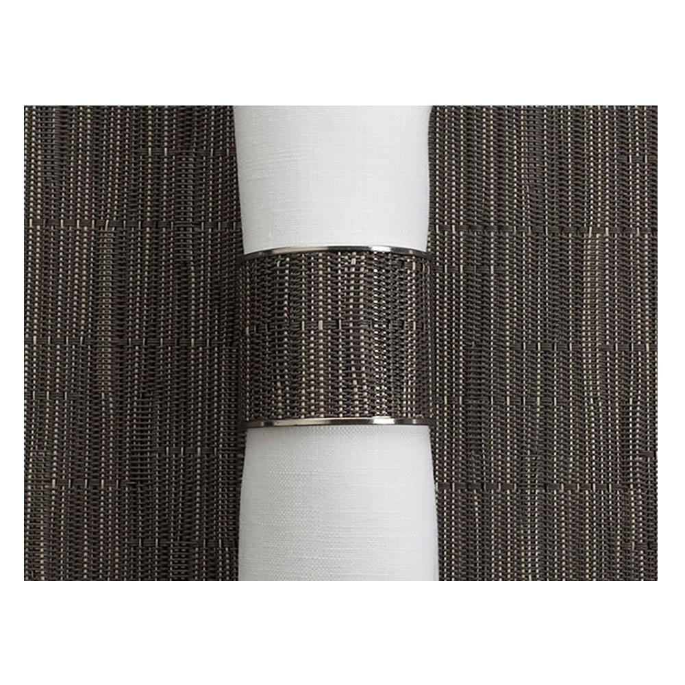 Кольцо для салфеток Grey Flannel (100323-012) CHILEWICH Stainless steel арт. 0801-BAMB-GRFL
