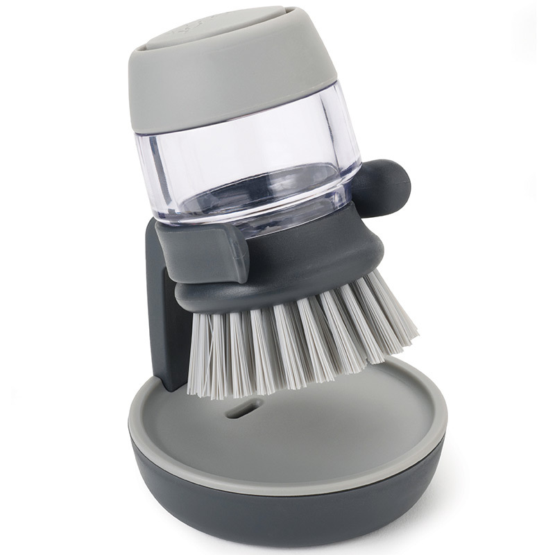 Щетка с дозатором моющего средства Joseph palm scrub™ серая 85005