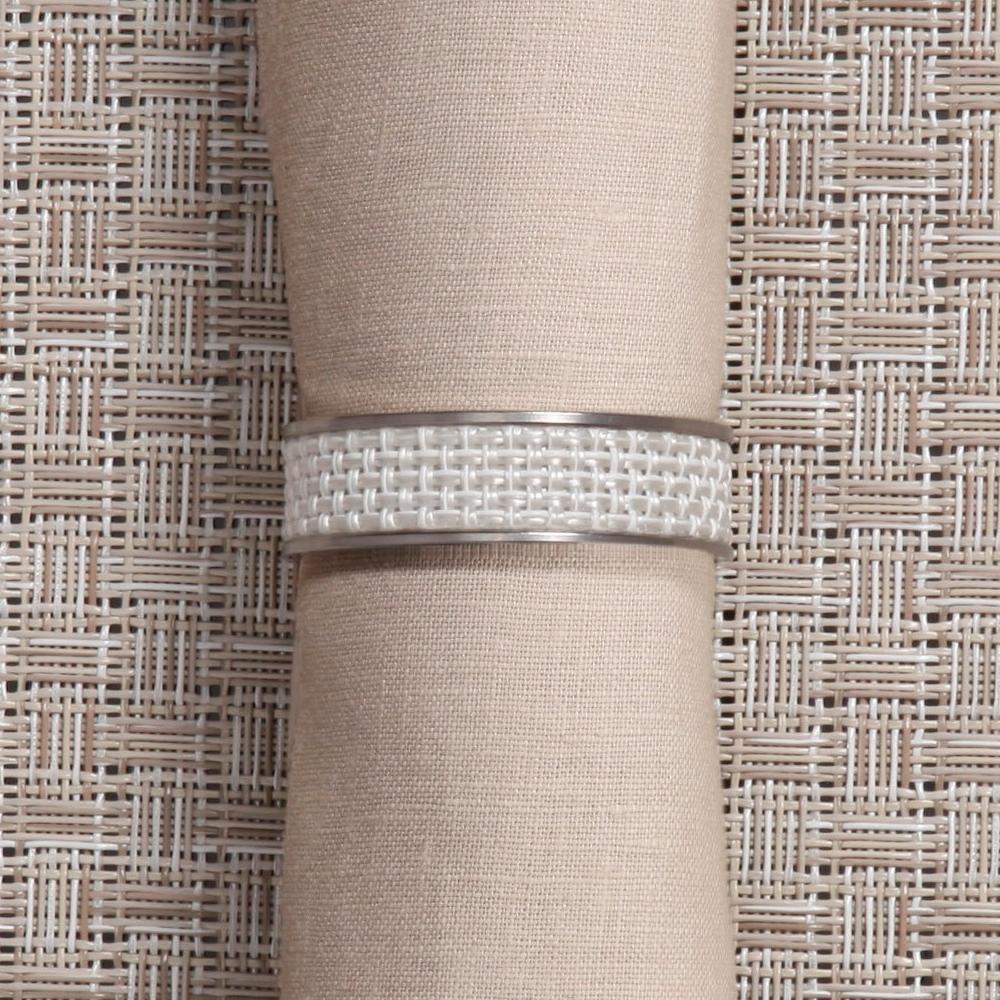 Кольцо для салфеток White (100324-020) CHILEWICH Stainless steel арт. 0802-MNBK-WHIT