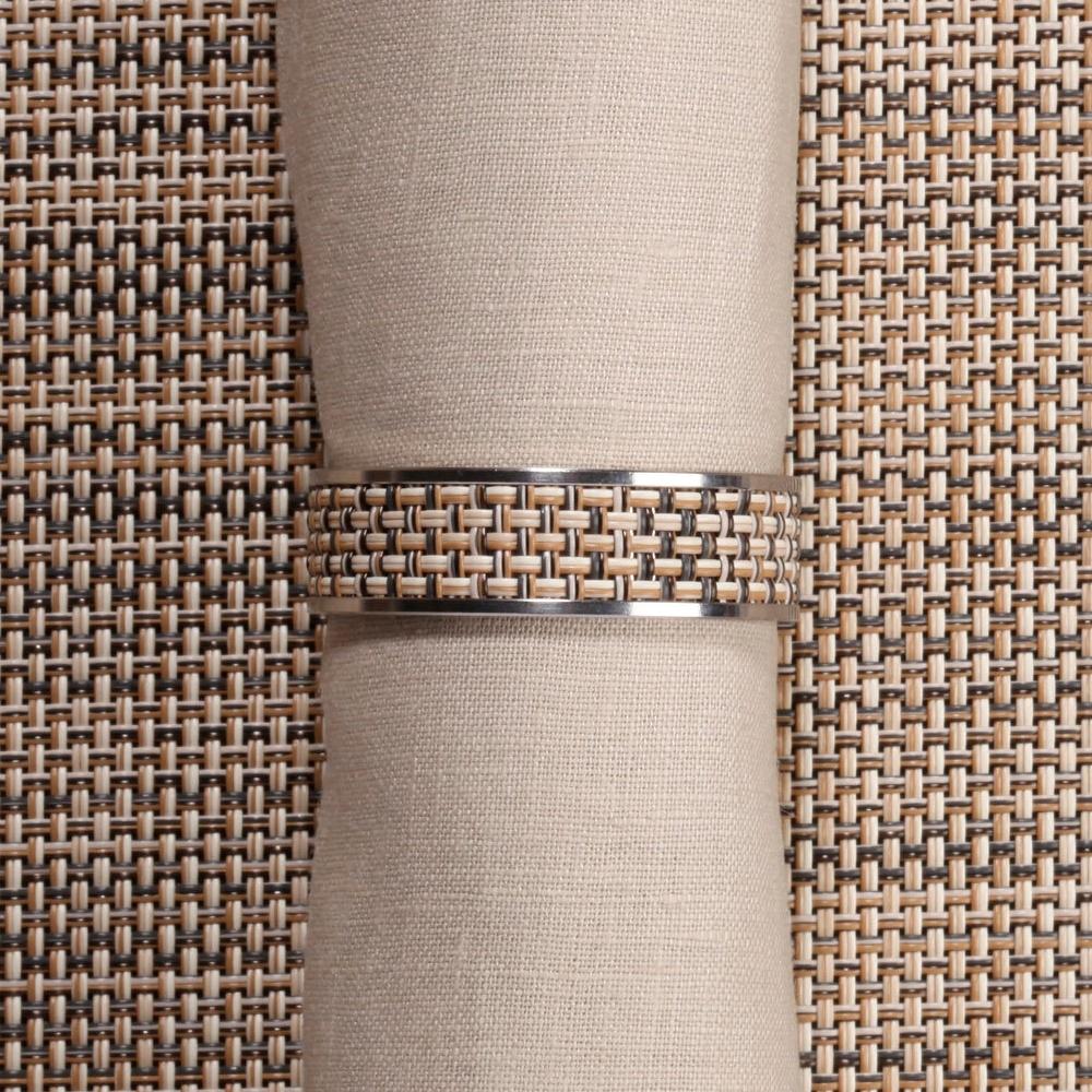 Кольцо для салфеток Linen (100324-014) CHILEWICH Stainless steel арт. 0802-MNBK-LINE