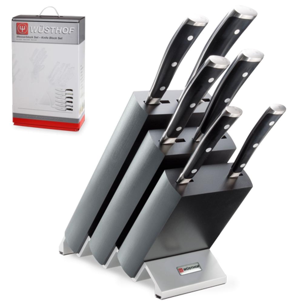 Купить Набор из 6 кухонных ножей и подставки WUSTHOF Classic Ikon арт. 9876 WUS