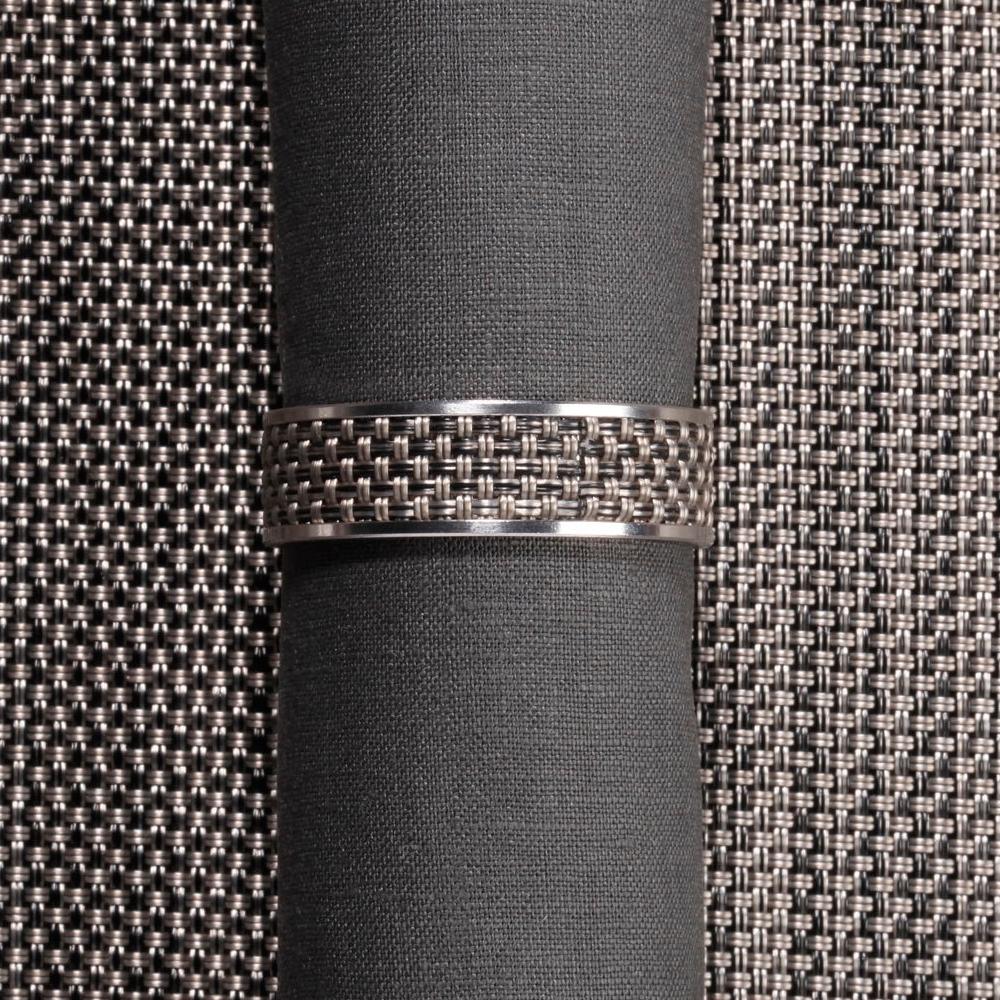 Кольцо для салфеток Light grey (100324-015) CHILEWICH Stainless steel арт. 0802-MNBK-LTGR