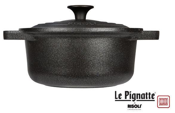 Купить Литая кастрюля 20см (2, 25л) с крышкой Risoli LE PIGNATTE 00097PIN/20P