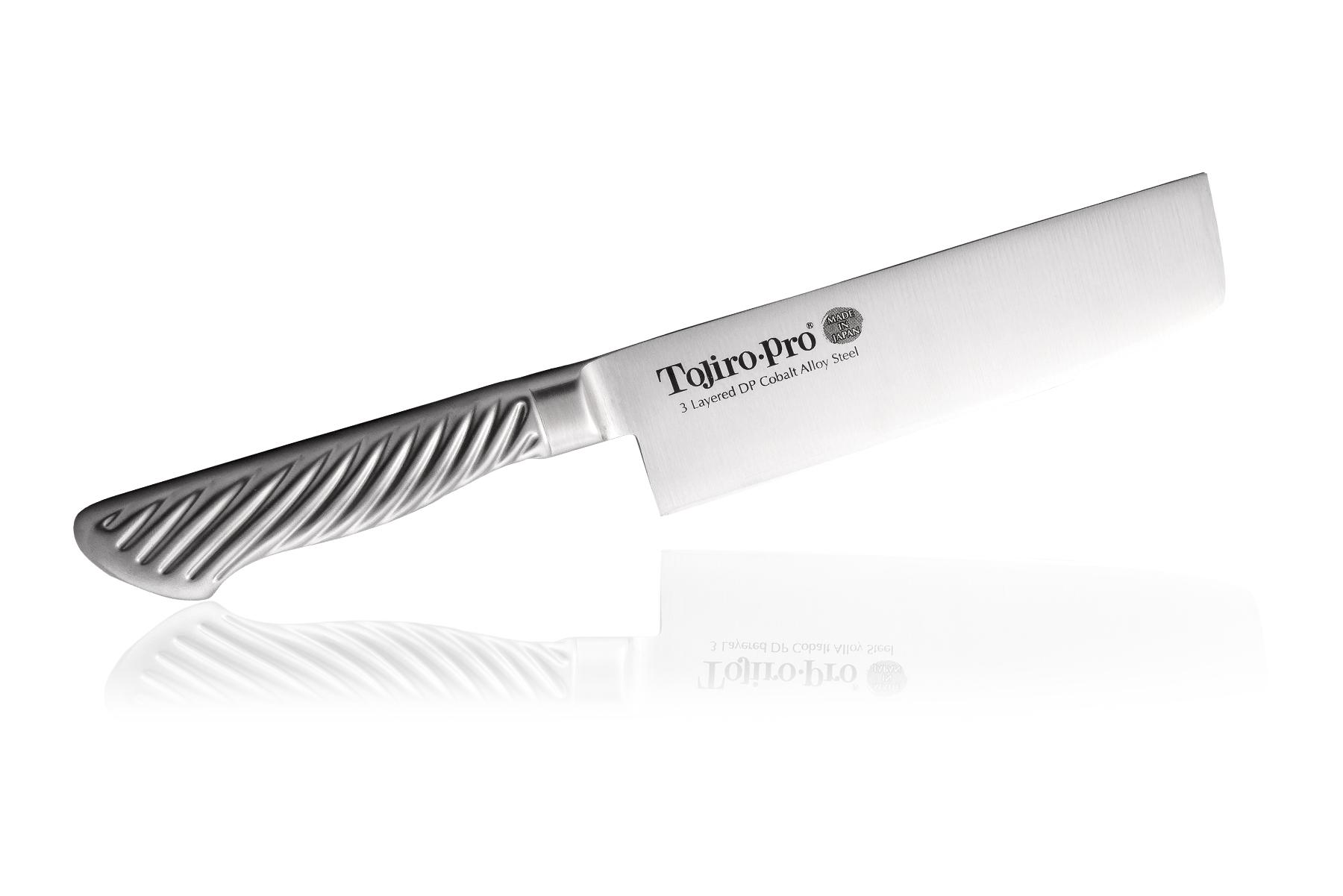 Нож кухонный стальной Накири (165мм) Tojiro PRO F-894