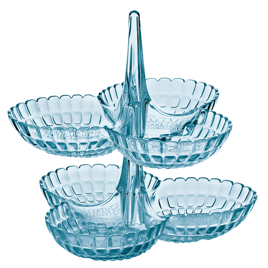 Набор из 2 менажниц Guzzini Tiffany голубой 19920181  - Купить