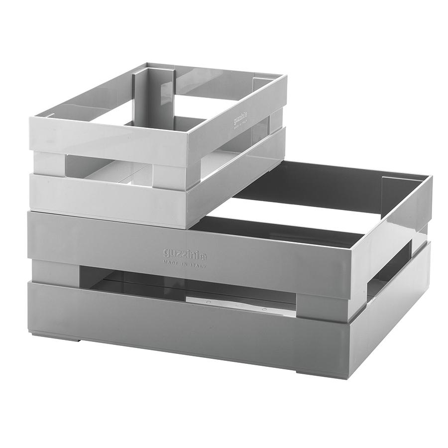 Купить Набор из 2 ящиков Guzzini Tidy & Store серый 169500177
