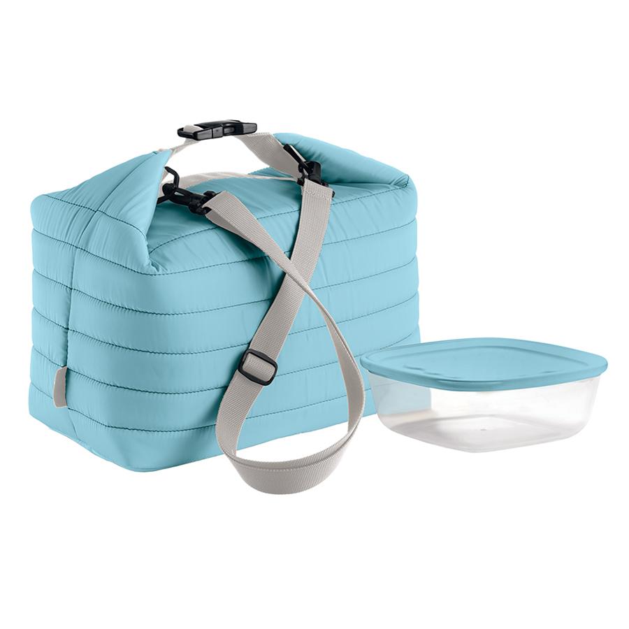 Купить Набор термосумка+контейнер Guzzini Handy большой голубой 032903134