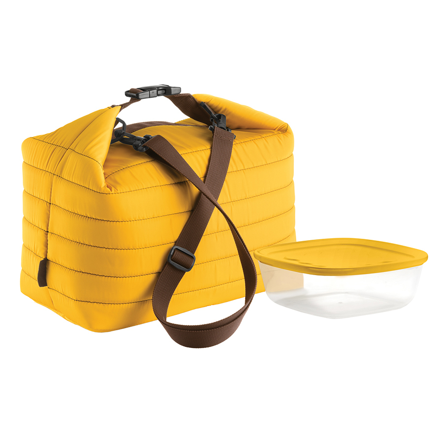 Купить Набор термосумка+контейнер Guzzini Handy большой жёлтый 032903165