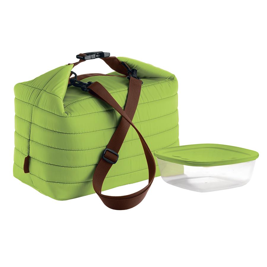 Купить Набор термосумка+контейнер Guzzini Handy большой зелёный 03290384
