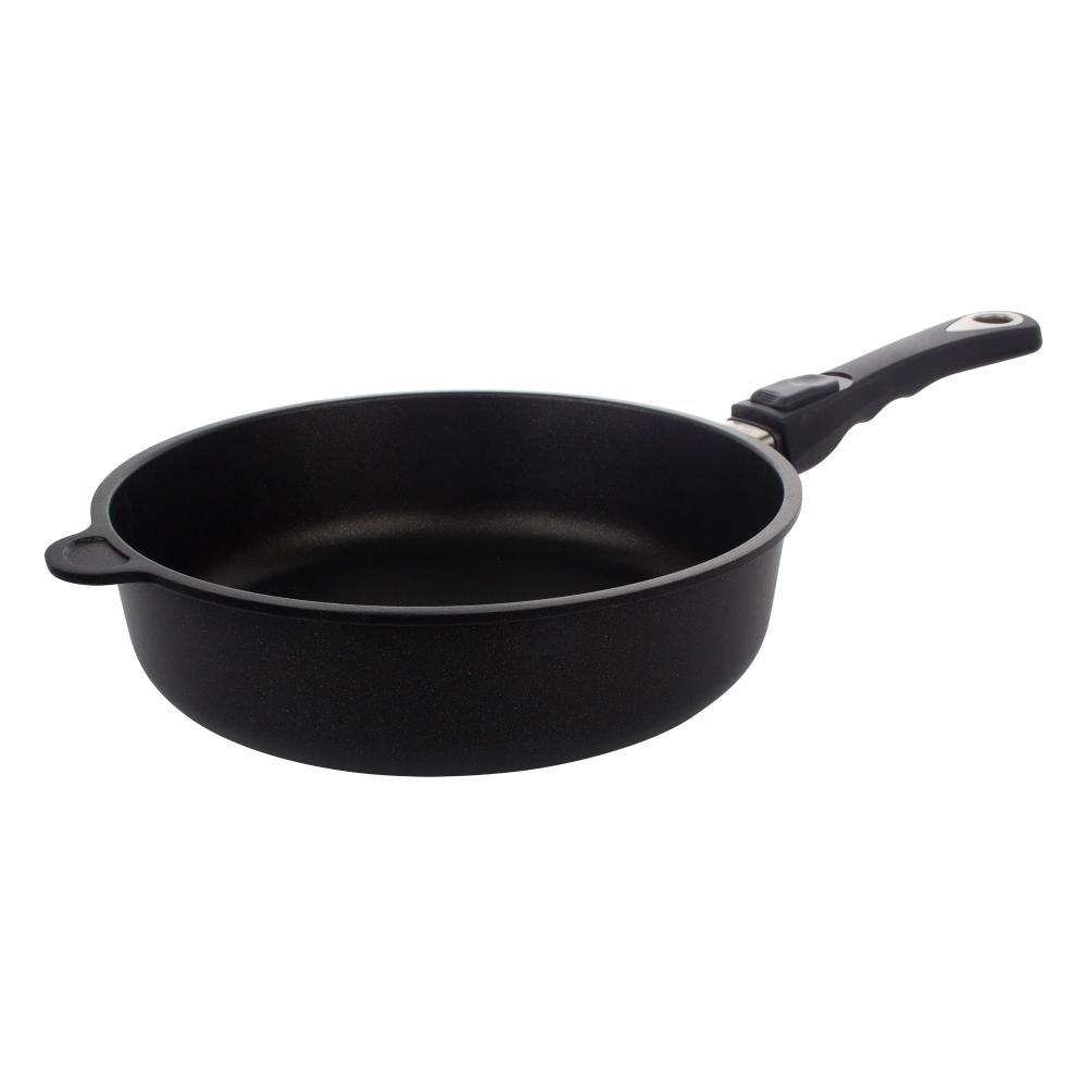 Сковорода глубокая 26 см съемная ручка AMT Frying Pans арт. AMT726