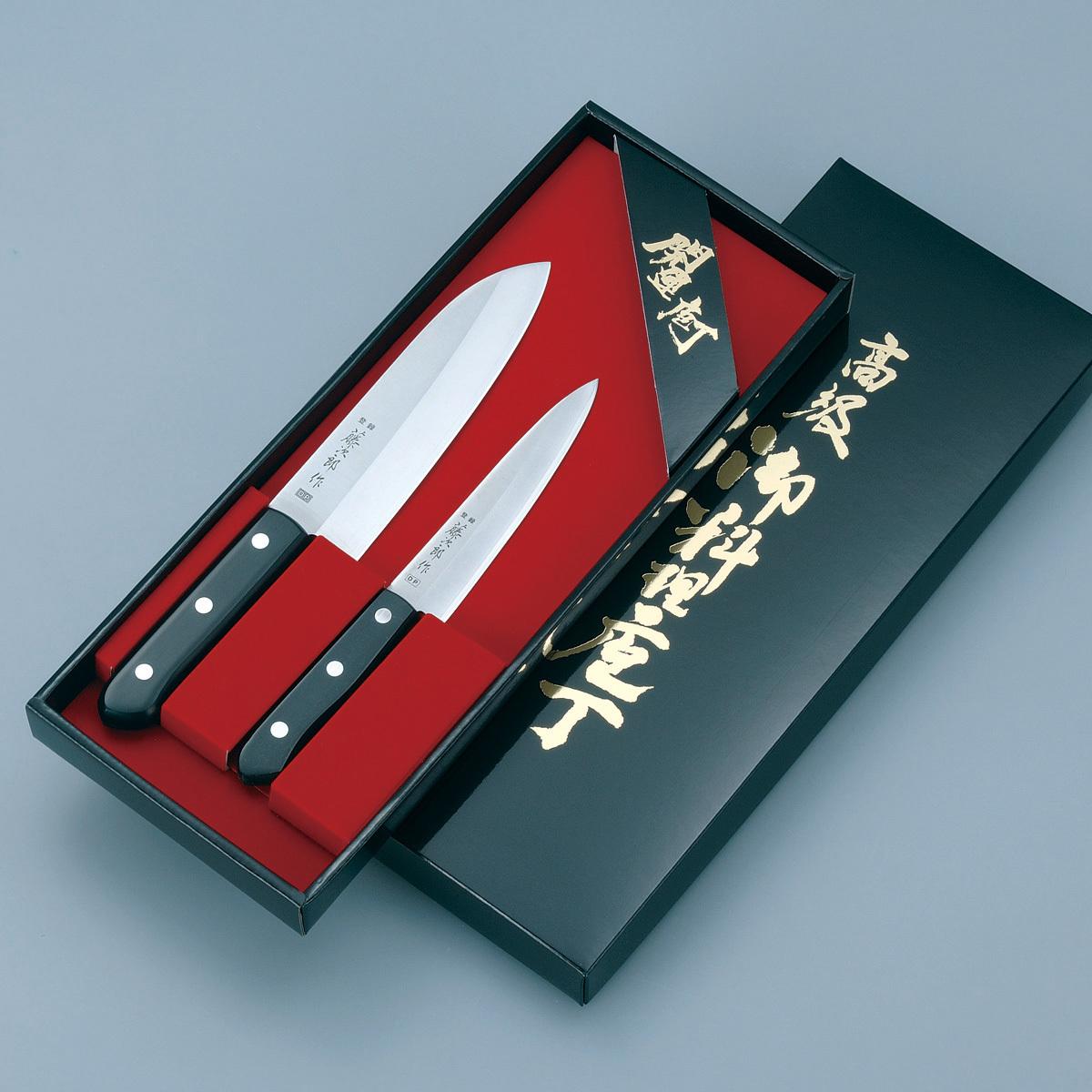 Набор из 2 кухонных стальных ножей Tojiro DP FT-011
