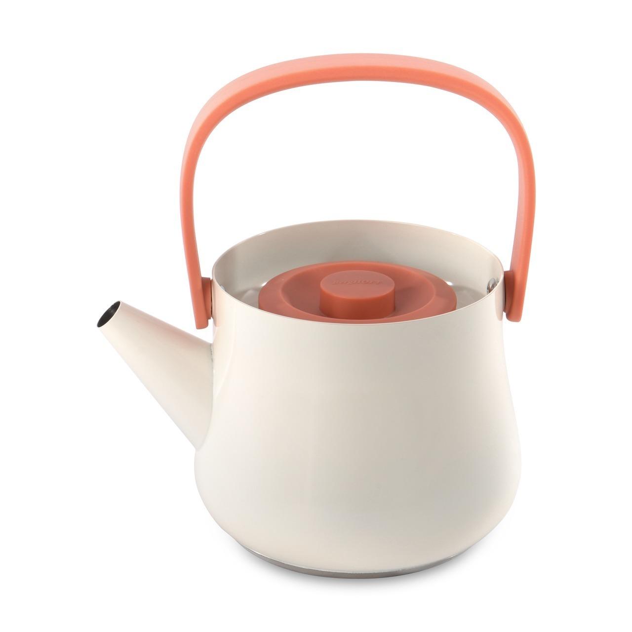 Чайник 2в1 для плиты и заварочный 1л (белый) Ron BergHOFF 3900048