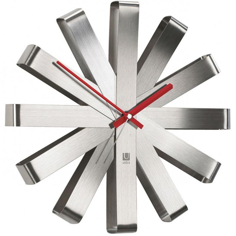 Часы настенные Umbra ribbon сталь 118070-590