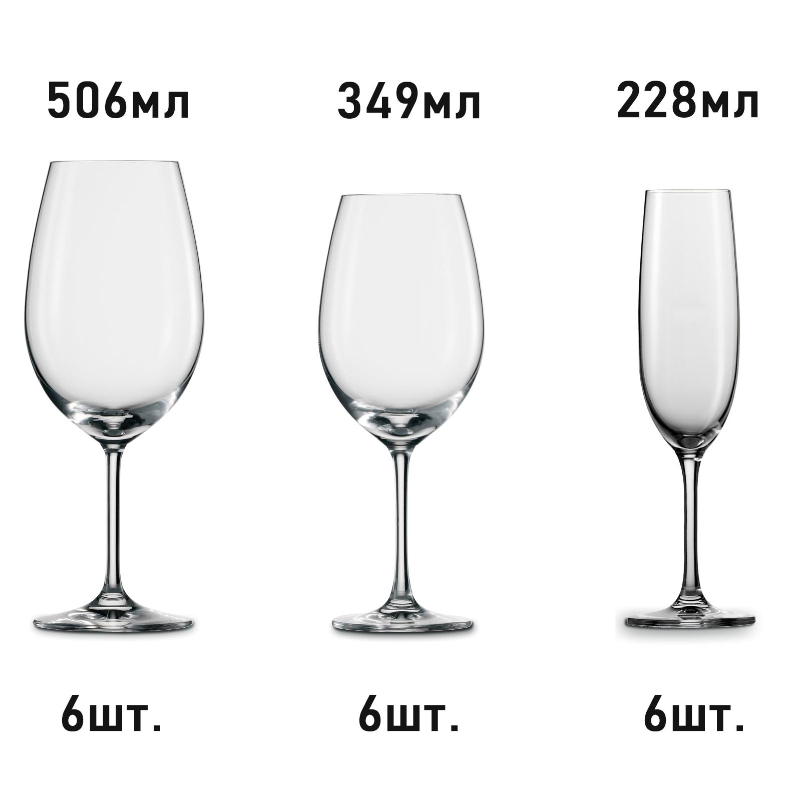 Купить Комплект из 3 наборов по 6 бокалов SCHOTT ZWIESEL Elegance