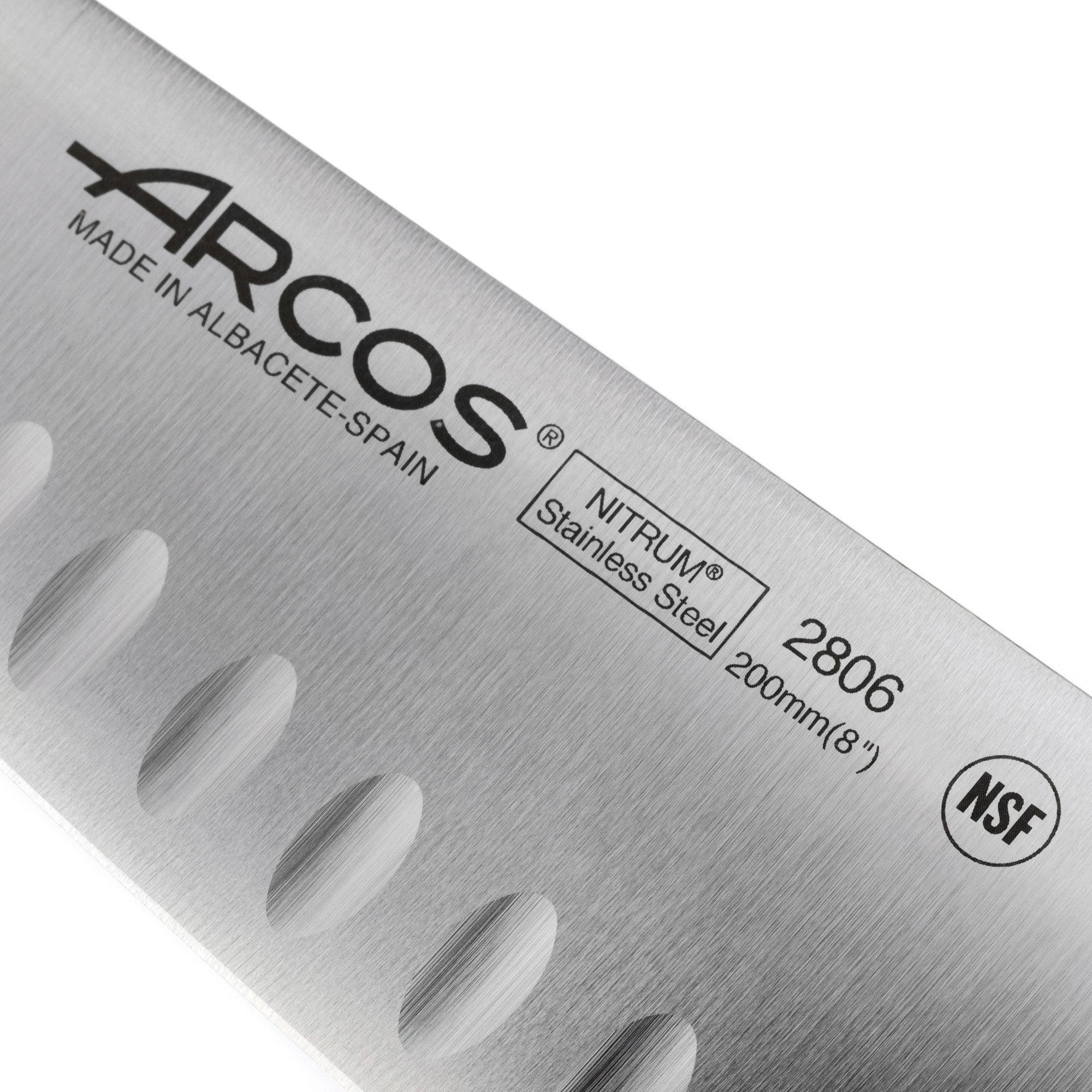 Нож кухонный Шеф 20 см, с углублениями на лезвии ARCOS Universal арт. 280601