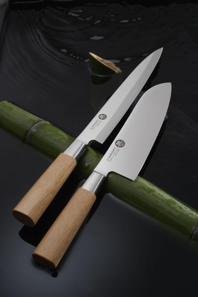 Нож кухонный стальной Янагиба (210мм) Suncraft MU-05