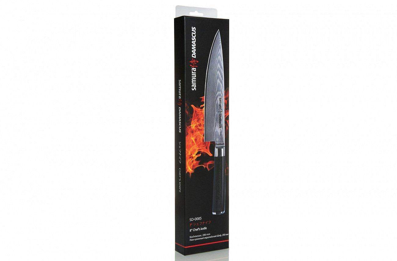 Нож кухонный стальной Шеф Samura Damascus SD-0085/K