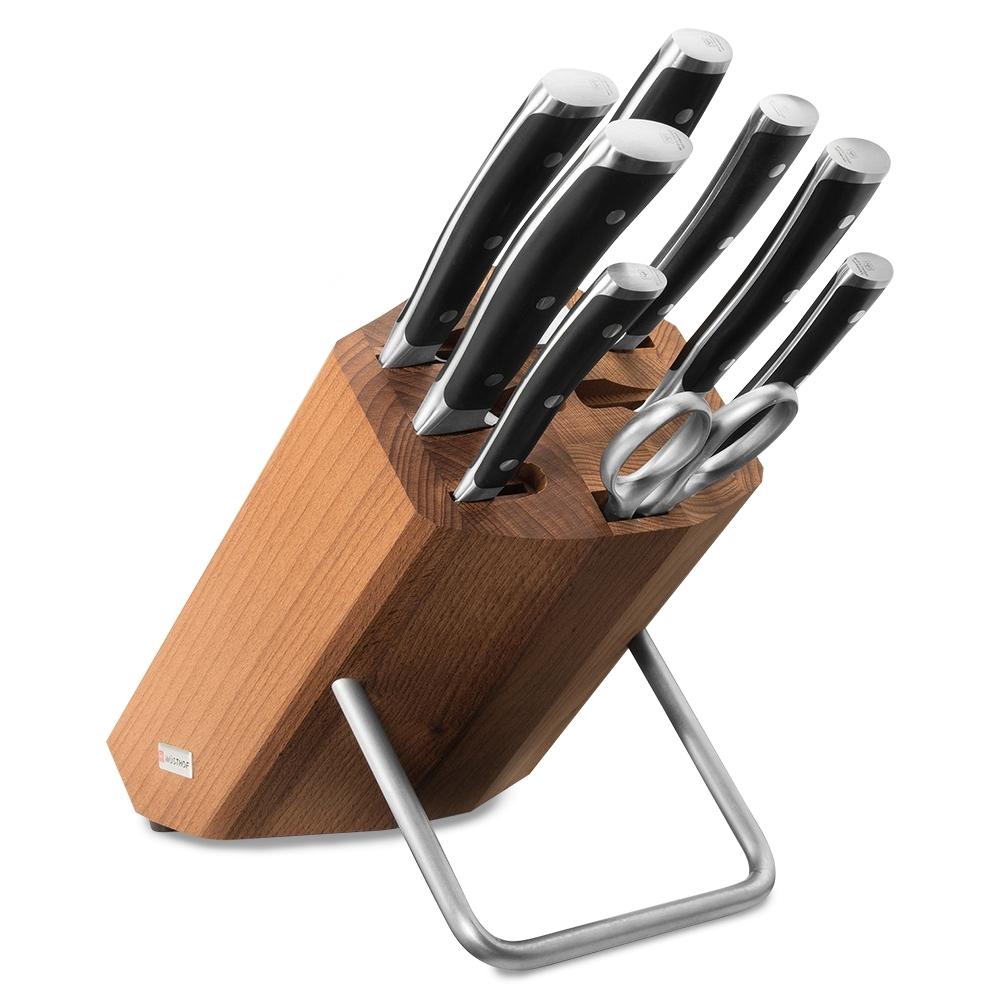 Набор из 6 кухонных ножей, мусата, ножниц и подставки WUSTHOF Classic Ikon арт. 9882 WUS