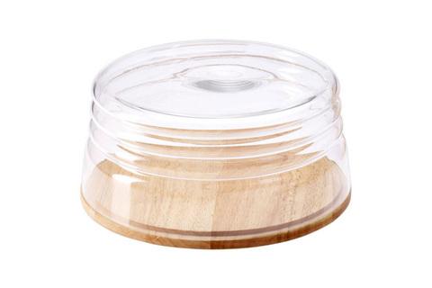 Емкость для сыра/миска для салата Continenta, качуковое дерево 48163