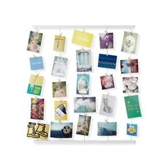 Панно с зажимами для 40 фотографий Hangit белое Umbra 315000-660