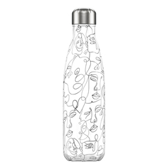Термос Chilly's Bottles Line Drawing 500 мл Faces B500LDFCE