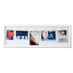 Панно с зажимами для 7 фото Clothesline белое Umbra 311020-660