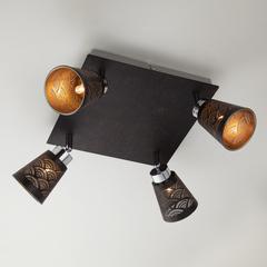 Потолочный светильник с поворотными плафонами Eurosvet Monte 20061/4 черный