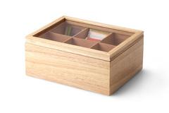 Ящик для хранения чайных пакетиков Continenta, цвет натуральный 39768