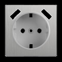 Накладка  для розетки USB (cеребряный рифленый) WL09-USB-CP Werkel
