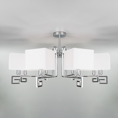 Потолочная люстра с квадратными абажурами Eurosvet Alma 60115/8 хром