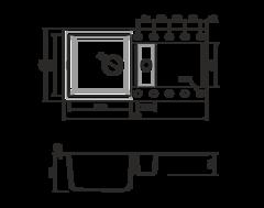 Кухонная мойка из искусственного гранита (Tetogranit) OMOIKIRI Sakaime 86-2-DC (4993201)