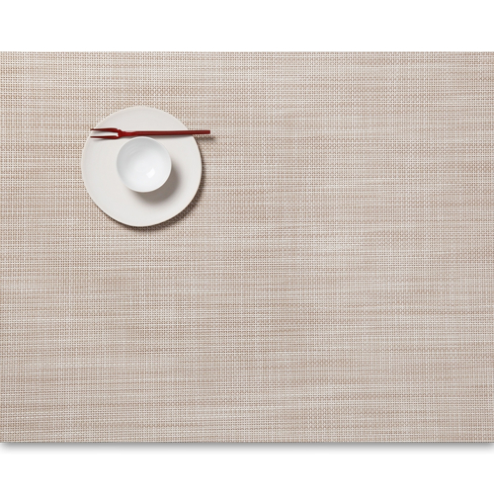 Салфетка подстановочная, жаккардовое плетение, винил, (36х48) Parchment (100132-016) CHILEWICH Mini Basketweave арт. 0025-MNBK-PARC