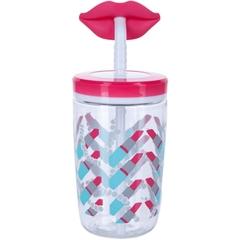 Детский стакан для воды с трубочкой Contigo Funny Straw (0.47 литра), розовый contigo0522