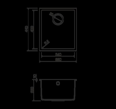 Кухонная мойка из искусственного гранита (Tetogranit) OMOIKIRI Bosen 38-U-BL (4993157)