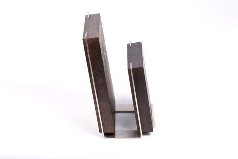 Магнитная подставка для ножей, бук и сталь, Chef, CH-001/BR