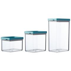 Набор контейнеров для хранения Mepal, 3 шт (мятная крышка) MEP-64000-92400